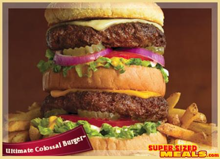 Supersizedmeals Com The Ultimate Colossal Burger Ruby